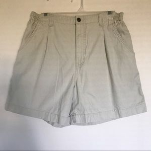 Royal Robbins Khaki Elastic Side Waistband Shorts